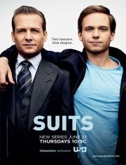 Suits. About lawyers,  clever, not squishy  soapy like most courtroom/law-office dramas . . . and it stars Gabriel Macht and Gina Torres - whats not to like!