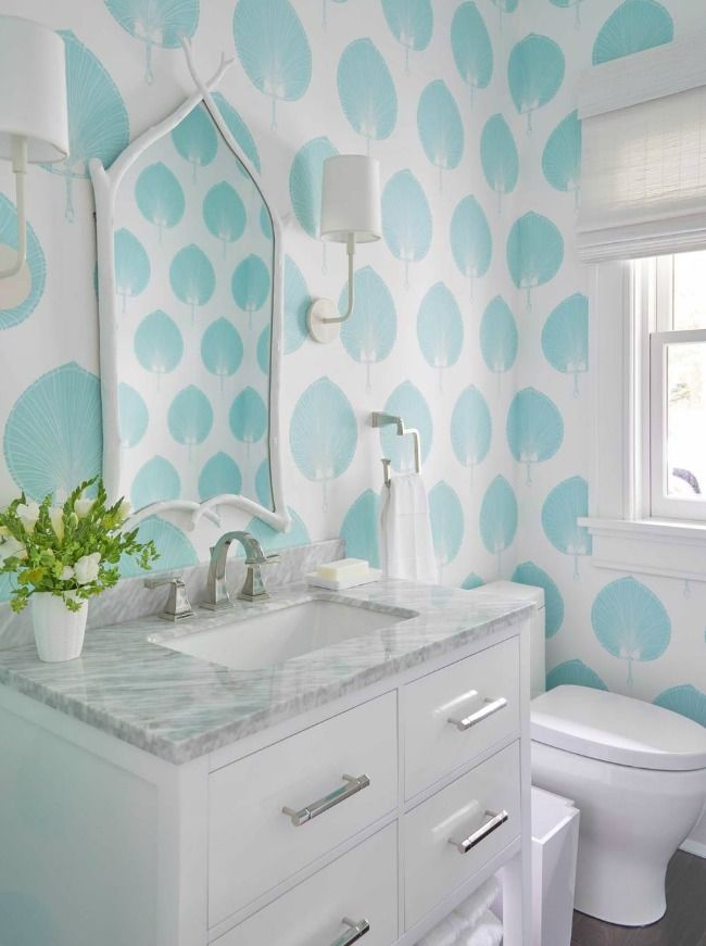 In Good Taste: Meg Braff. Palm WallpaperBathroom ...
