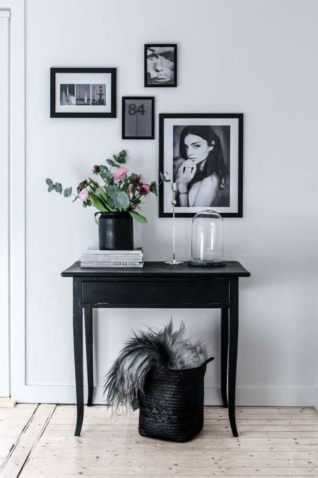 Black home decor and art work | Scandinavian style #interiors #nordic