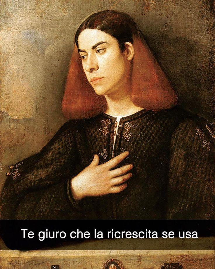 Snapchat: stefanoguerrera Ritratto di giovane - Giorgione (1500 ca.) #seiquadripotesseroparlare #stefanoguerrera
