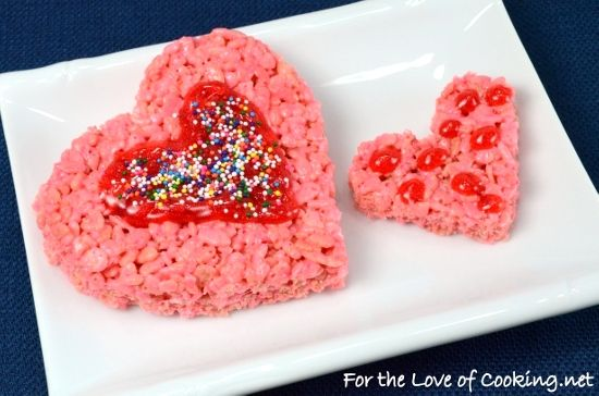 valentines day heart rice krispies