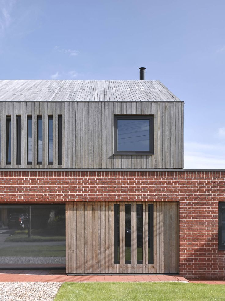 Front elevation of Broad Street House, Suffolk : Modern houses by Nash Baker Architects Ltd