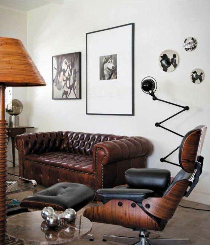 le fauteuil club cuir vieilli pour le salon chic