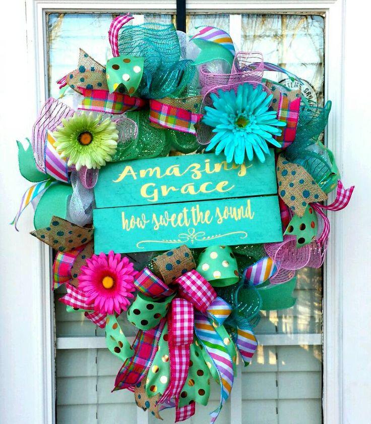 Everyday Deco Mesh Amazing Grace Wreath So Many Wreaths