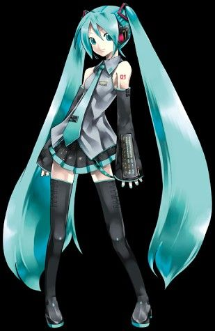 Hatsune Miku. I've used this pic as a reference sooo many times.