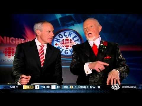 HNIC Coach's Corner Don Cherry 2 Feb 2013 Boston Bruins vs Toronto Maple Leafs NHL Hockey
