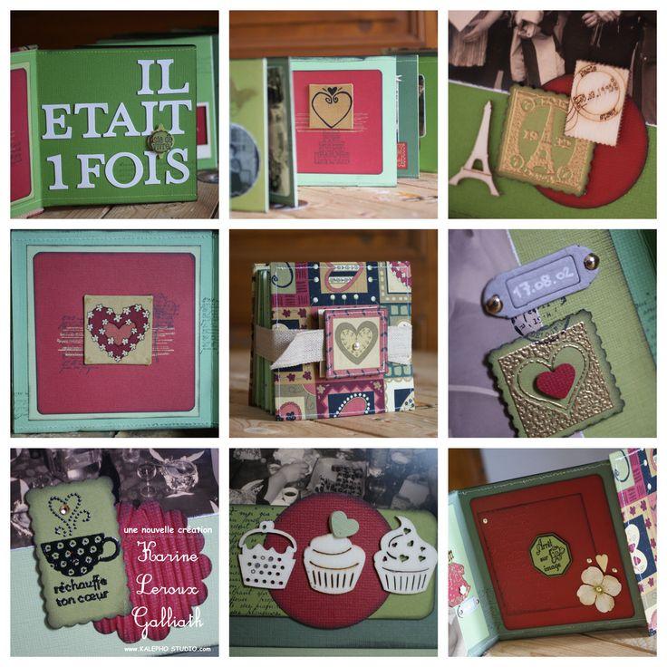 album accordéon pour des 40 ans de mariage(noces d'émeraude...dominante verte) www.kalephostudio.com