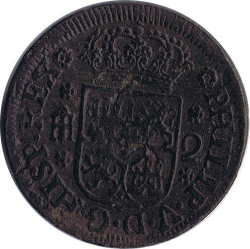 2 Maravedis 1744 Felipe V Segovia Cobre Monedas Sellos