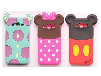 3d De Silicona Suave Minnie Sulley cubierta del teléfono celular para Samsung Galaxy Grand primer