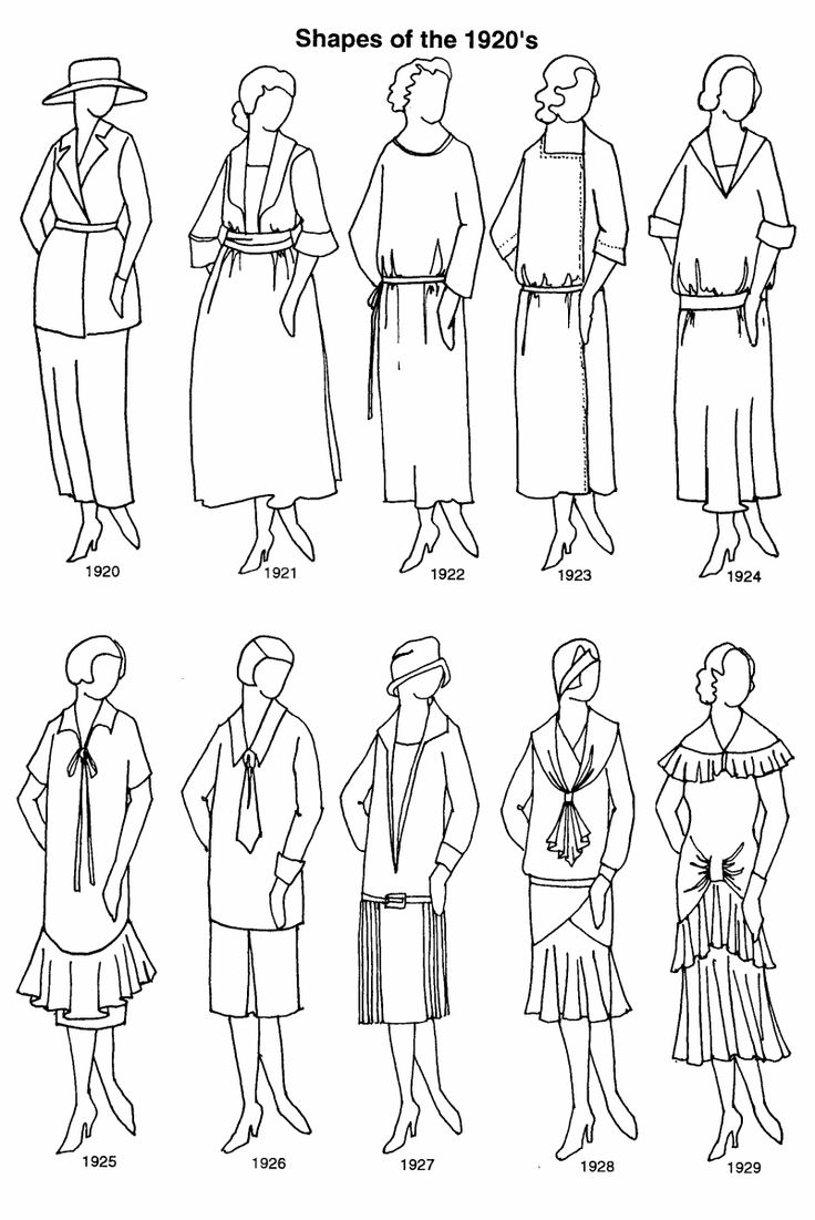 Clothing Shapes 1920's