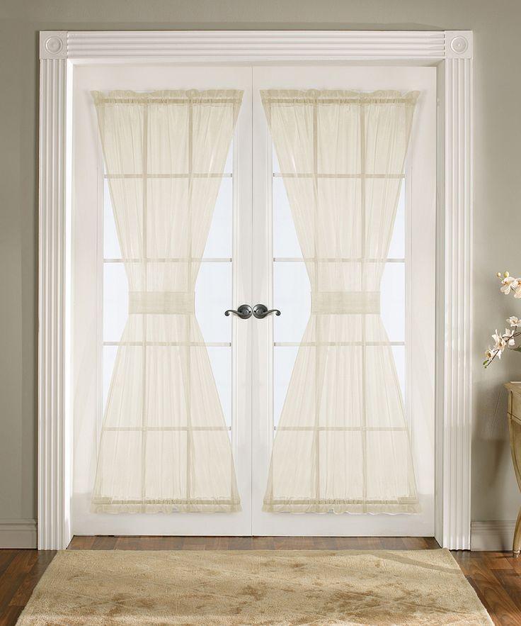 Ivory Breeze Door Curtain Panel   Set Of Two