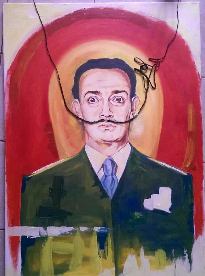 """Dali Moustache - Brand"" oil on canvas 80x100cm"