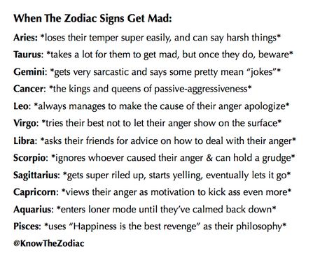 "When the Zodiac Signs Get Mad: Cancer Zodiac Sign♋ - ""the kings & queens of passive-aggressiveness"" #horoscopesigns"
