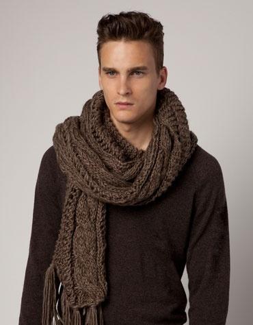 bershka - Schal gestrickt RippmusterMen Style, Bershka España, Men Knitwear