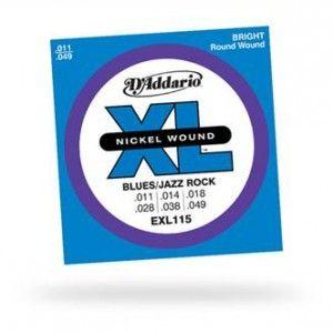 D'Addario – EXL115. Per chitarra elettrica. Scalatura .011 – .014 – .018 – .028 – .038 – .049