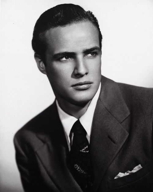 Don't mistake this dude for being nice by the picture--the future Godfather!!!--Marlon Brando