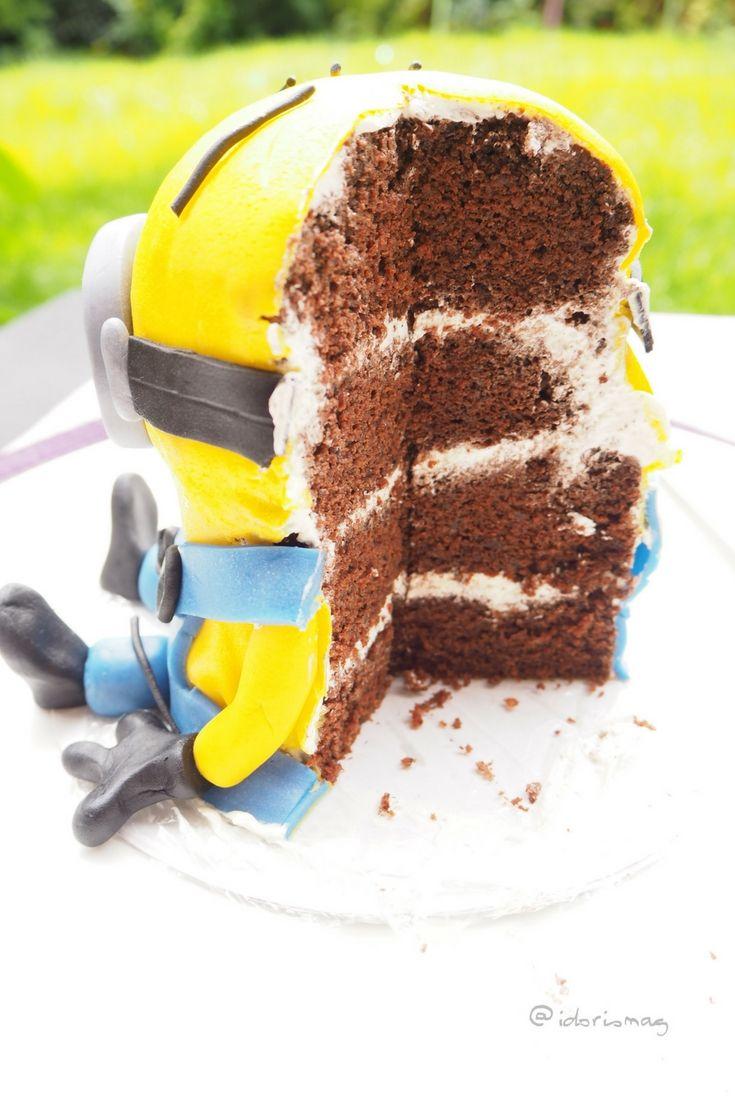 Vegane Fondant Minion Torte! Veganer Schokolade Teig mit veaner Buttercreme. Schnell und einfach vegan backen! Für Geburtstage, Partys, Fasching, Karneval!