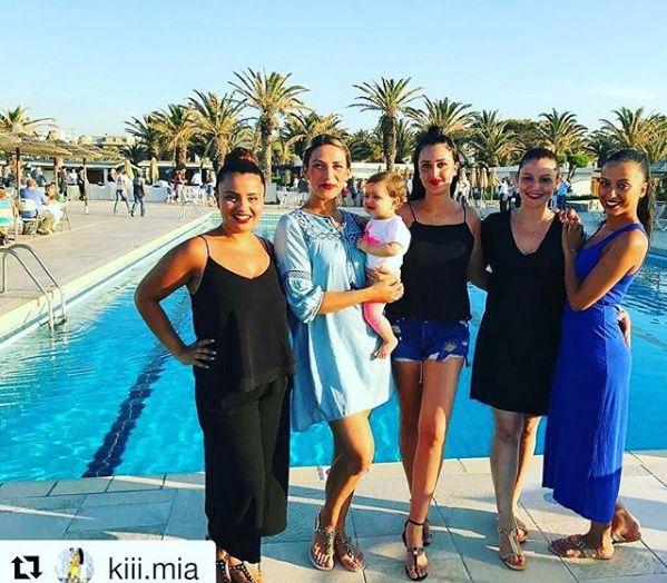 Gorgeous ladies having fun by the #swimmingpool of #CretaBeach #Hearaklion #Crete!