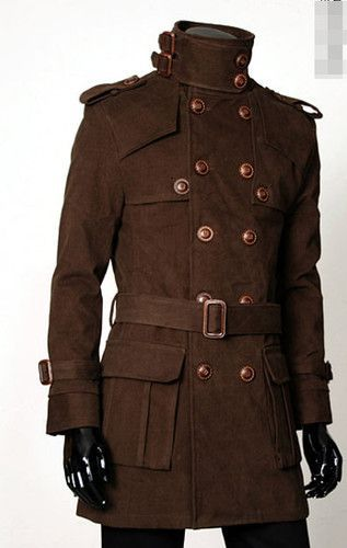 A vintage men's coat. Very Steampunk. #MensFashion #VintageCoats