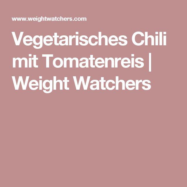 Vegetarisches Chili mit Tomatenreis   Weight Watchers