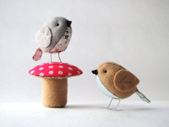 The Fat Sparrow & Terrific Toadstool PDF pattern set of 2  *cute DIY patterns very cheap on Etsy* :) [great for lazy people?;)]