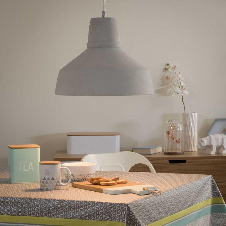 finest suspension en ciment d cm sillage maisons du monde with luminaire maisons du monde. Black Bedroom Furniture Sets. Home Design Ideas
