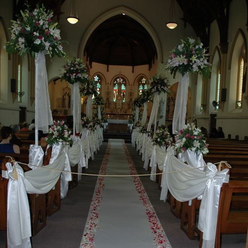 Wedding Ceremony Decorations Adelaide : Floral decorations ceremony church forward adelaide