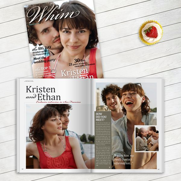design your own wedding magazine with twenty pages cute idea to have on display during