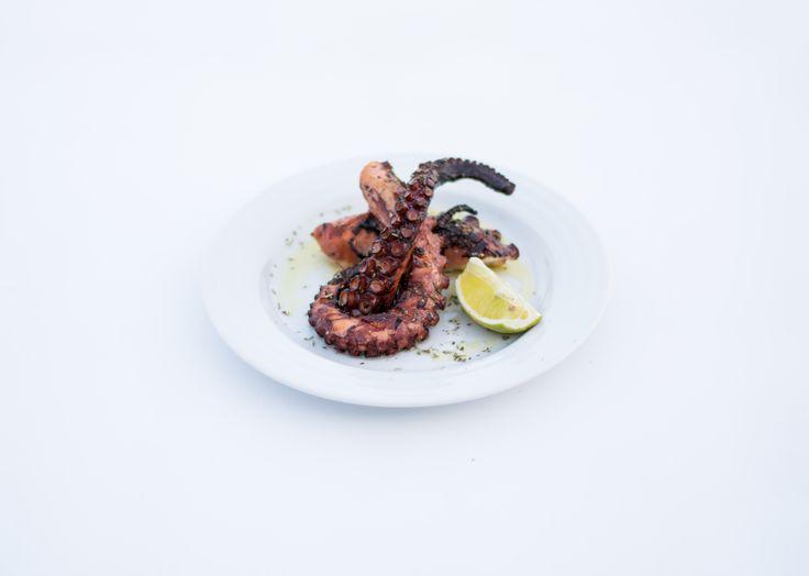 Χταπόδι στη σχάρα με λαδόξυδο | Grilled octopus in vinegar and olive oil |