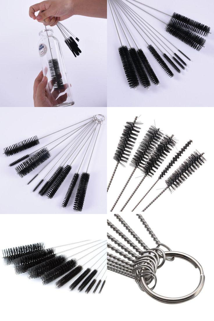[Visit to Buy] Narguile Metal Cleaning Brush for Weed Pipe Clean Glass Hookah Smoking Cachimba Pipas Fumar Feeding Bottle Brush 10 pcs/Set #Advertisement