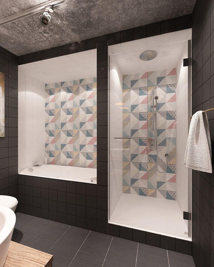 Фотография: Ванная в стиле Лофт, Квартира, Дома и квартиры, IKEA, Проект недели, Cosmorelax, квартира в стиле лофт – фото на InMyRoom.ru