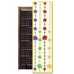 24 Inch by 78 Inch Plastic Flower Power Beaded Door Curtain from Windy City Novelties