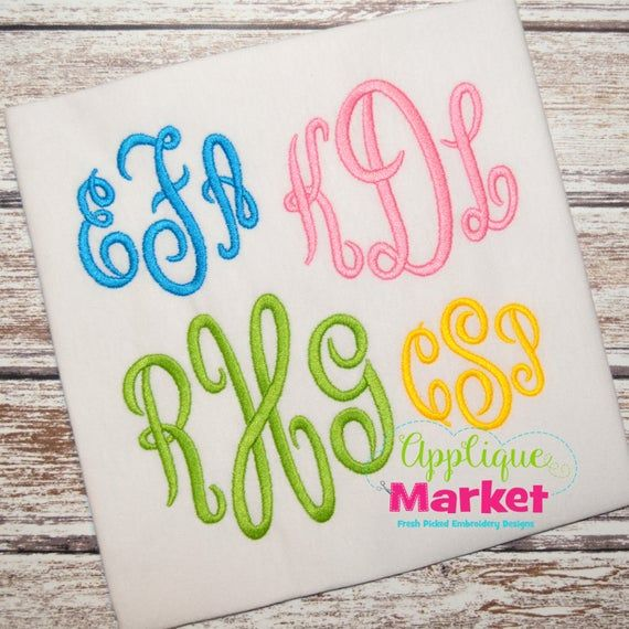 Machine Embroidery Design Embroidery Regal Monogram Font