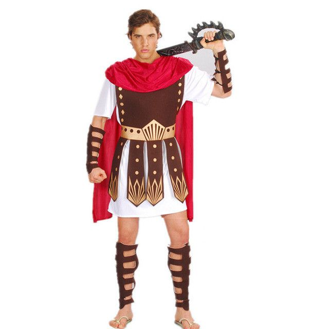 Ancient Roman Warrior Gladiator Costumes Masquerade Party Women Men Knight Julius Caesar Halloween Adult Cosplay Couple Cotume