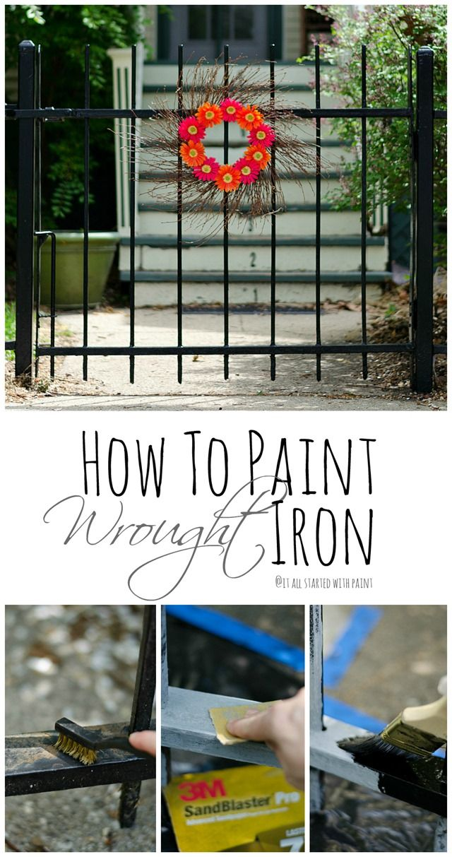 How To Paint Wrought Iron Fence | It All Started With Paint
