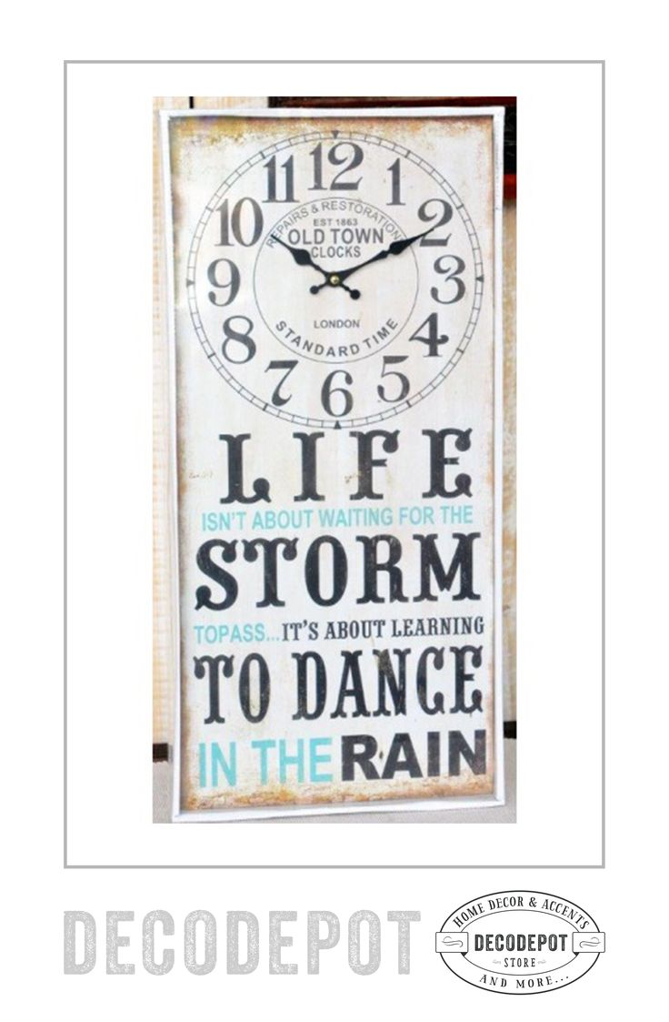 Ceas decorativ cu mesaj motivaţional şi amuzant din lemn, viu colorat. Wooden clock. Motivational message. Gift. Decoration. DecoDepot. Braşov. România. Shop Online.