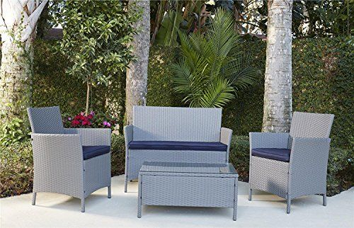Save On Cosco Outdoor 4 Piece Jamaica Patio Deep Seating Set With