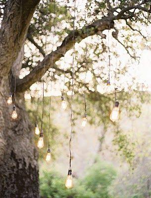 My dream... a huge oak tree, lights, and a comfy porch swing.
