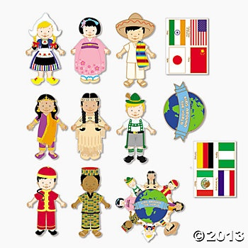 Kids Around The World Cutouts - Oriental Trading