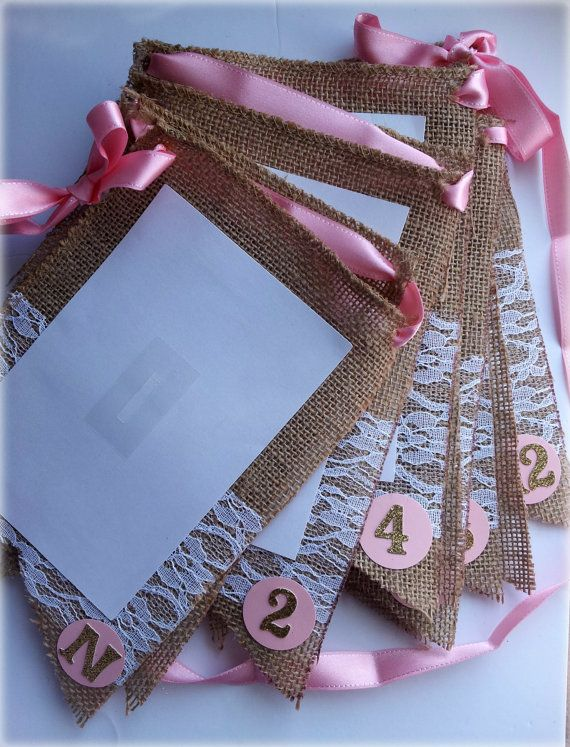 Burlap and lace first year photo banner. Vintage first birthday photo prop. Pink vintage birthday. Check out this item in my Etsy shop https://www.etsy.com/listing/202780790/1st-year-photo-banner-in-burlap-and-lace