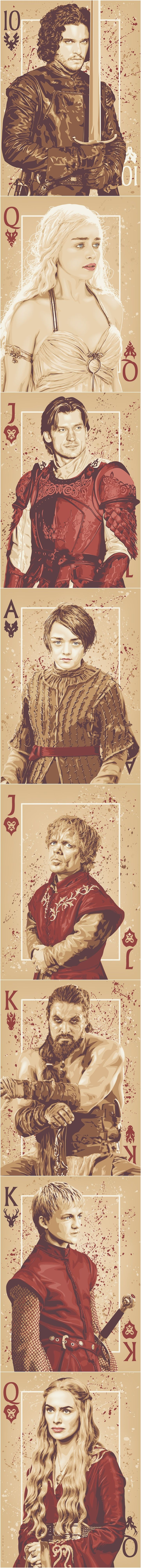 "Cards ""Game Of Thrones"" By Ratscape ~I don't know, there are more than 4 suits..."