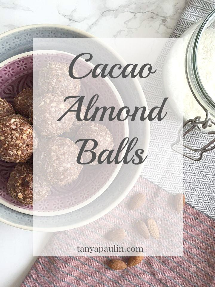 Cacao Almond Balls - The PERFECT afternoon snack | tanyapaulin.com