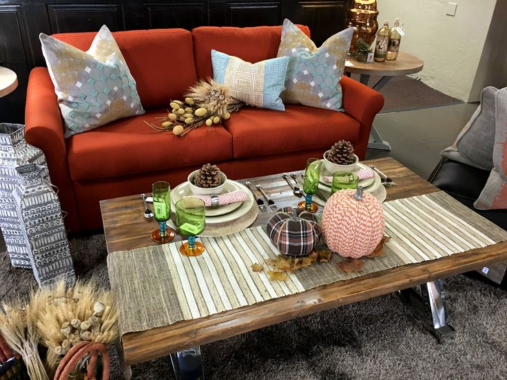 Why can't Thanksgiving be a more casual affair with all those football games on? Take some inspiration from a design like this - it's still THE MEAL but possibly more your style.