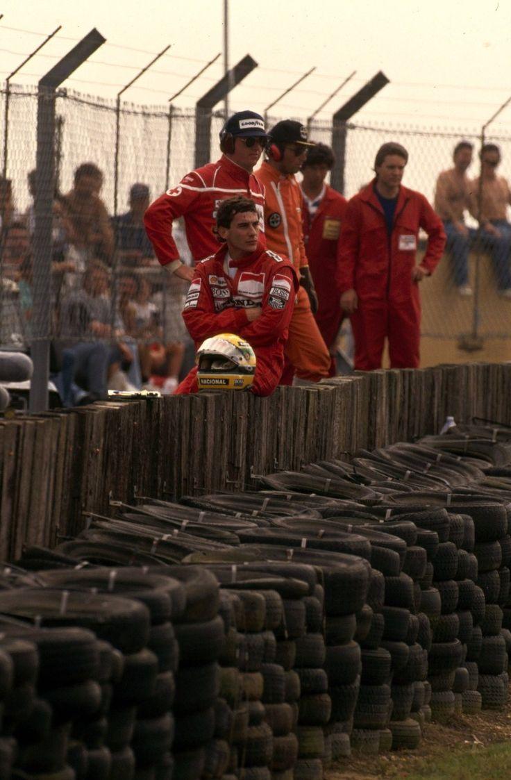 Ayrton Senna da Silva (BRA) (Honda Marlboro McLaren), McLaren MP4/5 - Honda V10 (RET)1989 British Grand Prix, Silverstone