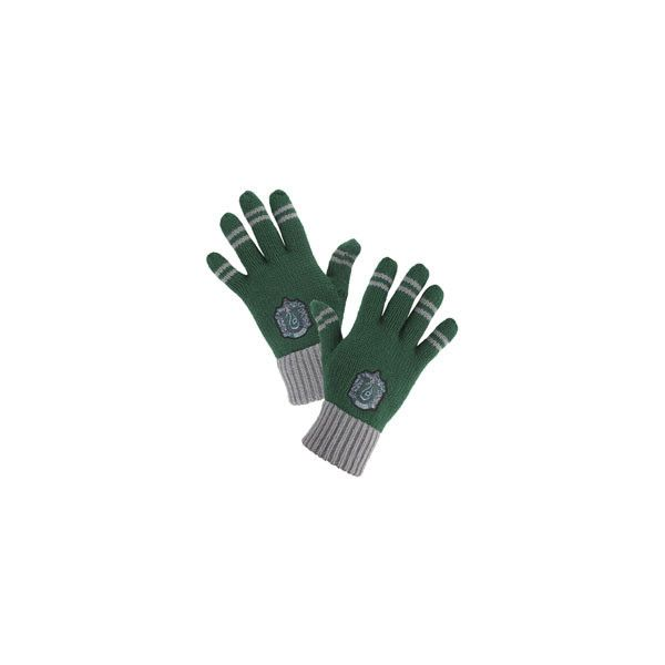 Slytherin Striped Gloves ($20) ❤ liked on Polyvore featuring accessories, gloves, harry potter, slytherin, hogwarts and striped gloves