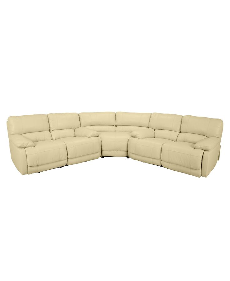Nina 3-Piece Leather Power Reclining Sectional Sofa with 2 Loveseats - Sectional Sofas - Furniture - Macy's