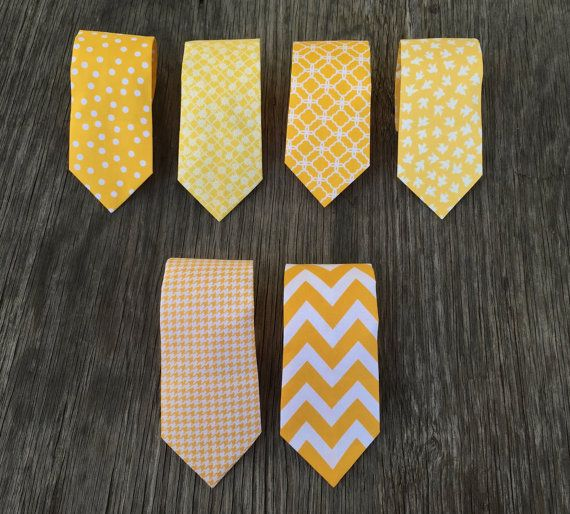buy a set of different patterned ties for the groomsmen? and a separate one for the groom?
