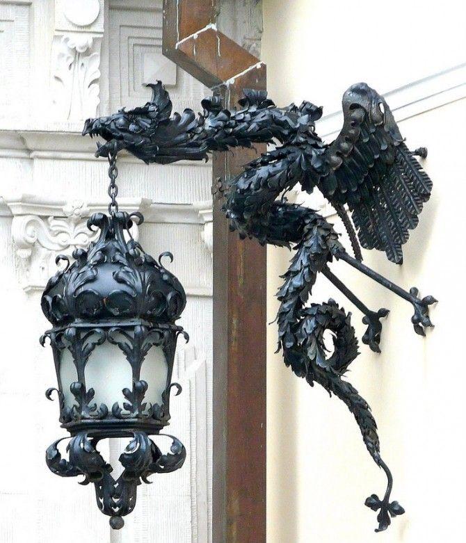 Кованый фонарь №106