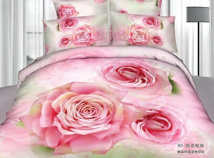 Hot! Reativa impresso 3d cama de algodão conjunto rainha king size/lençóis/capas de edredão preto vermelho