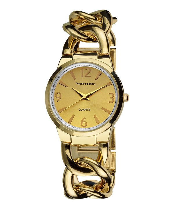 Take a look at this Gold The Bracelet Watch on zulily today!
